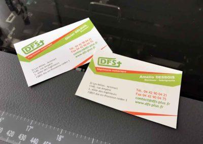 Impression de cartes de visite