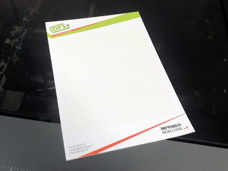 Bloc-note imprimé par DFS+ à Aix-en-Provence